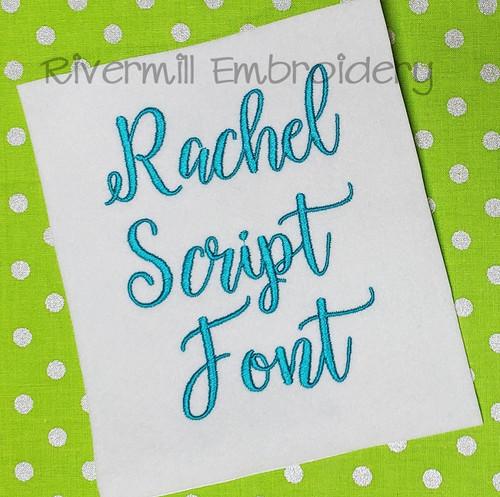 Rachel Script Machine Embroidery Font Alphabet