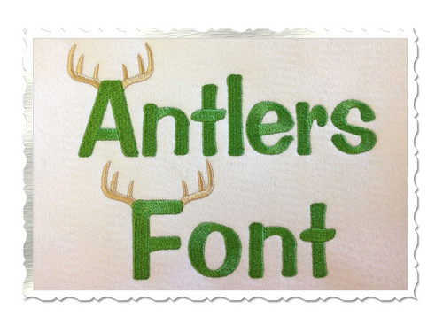 Antlers Machine Embroidery Font Alphabet