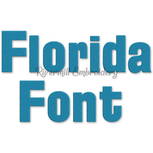 Florida Machine Embroidery Font Alphabet