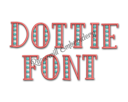 Dottie Machine Embroidery Alphabet Font