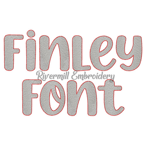 Finley Sketch Style Font Machine Embroidery Font Alphabet