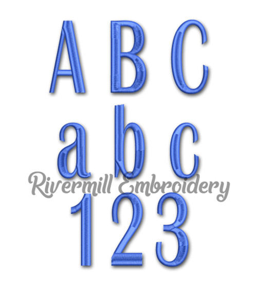 Large Britain Machine Embroidery Font Alphabet