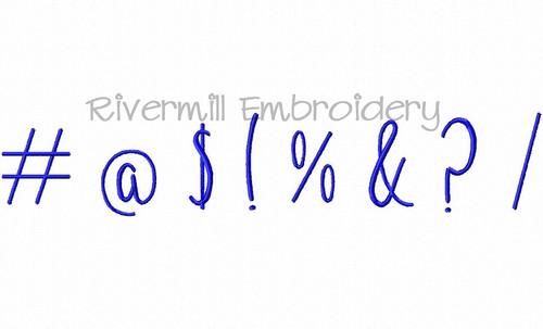 FREE Punctuation Set - Machine Embroidery Designs (Set 3)