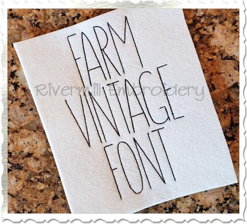 Farm Vintage Style Font Machine Embroidery Font Alphabet