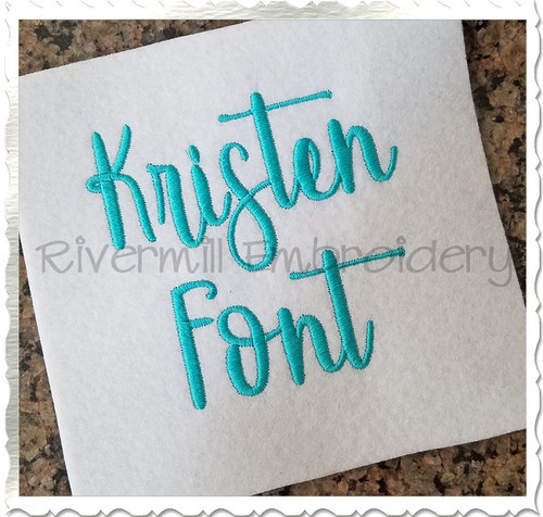 Kristen Machine Embroidery Font Alphabet