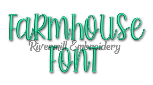 Farmhouse Font Machine Embroidery Font Alphabet