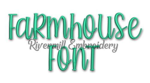 Farmhouse Font Machine Embroidery Font Alphabet