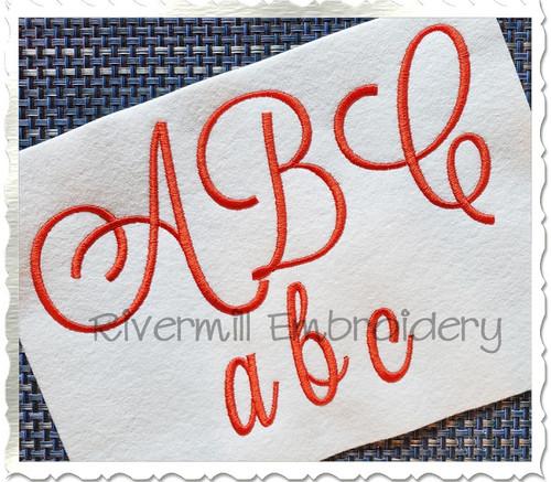 Large Anna Script Machine Embroidery Font Alphabet