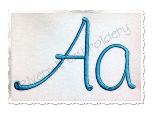 Large Kayleigh Machine Embroidery Font Alphabet