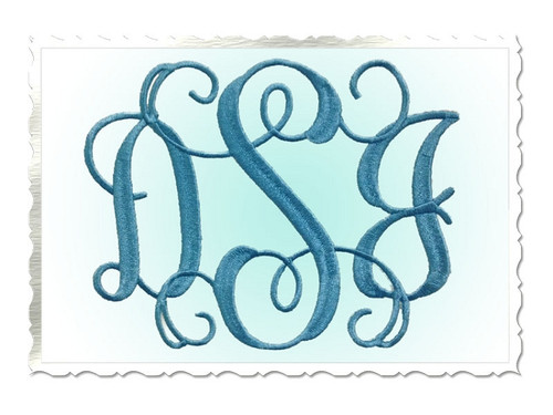 Large Intertwined Monogram Machine Embroidery Font Alphabet