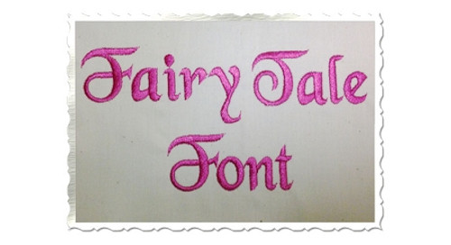 Fairy Tale Machine Embroidery Font Alphabet