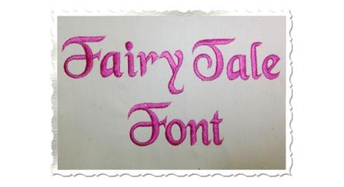Fairy Tale Machine Embroidery Font Alphabet