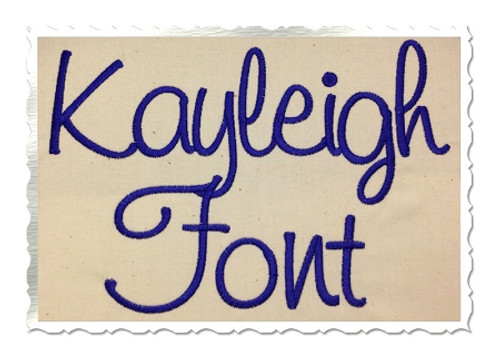Kayleigh Machine Embroidery Font Alphabet