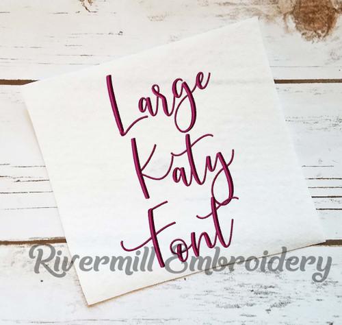 Large Katy Script Machine Embroidery Font Alphabet