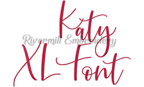 Extra Large Katy Script Machine Embroidery Font Alphabet