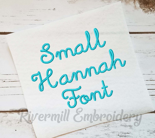 Small Hannah Machine Embroidery Font Alphabet
