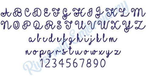 Small Heather Machine Embroidery Font Alphabet