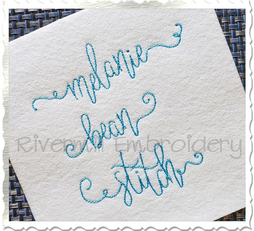 Bean Stitch Melanie Machine Embroidery Font Alphabet
