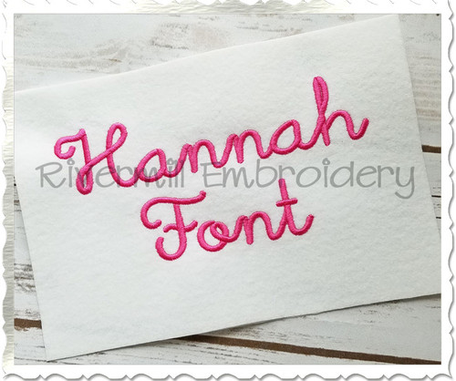 Hannah Machine Embroidery Font Alphabet