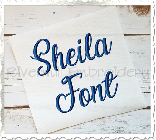 Sheila Machine Embroidery Font Alphabet
