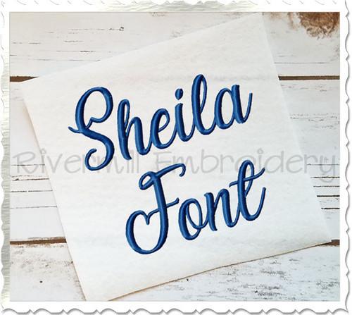 Sheila Machine Embroidery Font Alphabet