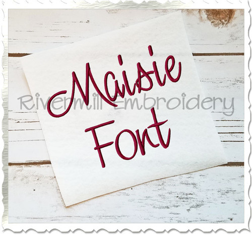 Maisie Machine Embroidery Font Alphabet