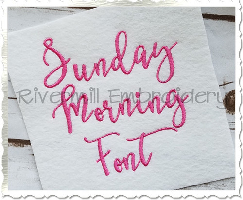 Sunday Morning Machine Embroidery Font Alphabet