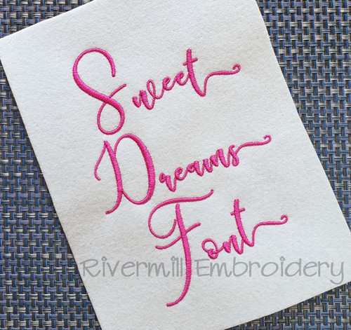 Sweet Dreams Machine Embroidery Font Alphabet