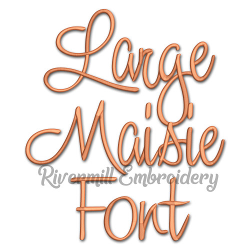 Large Maisie Machine Embroidery Font Alphabet