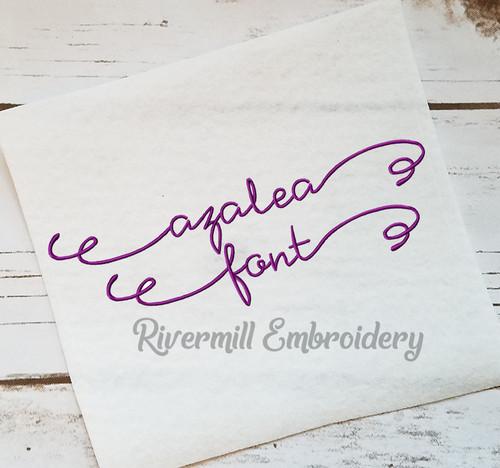 Azalea Machine Embroidery Font Alphabet