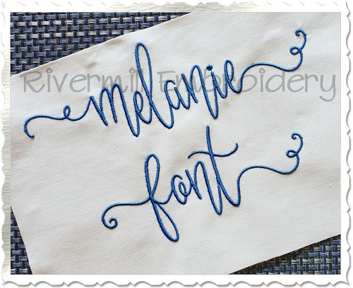 Melanie Machine Embroidery Font Alphabet