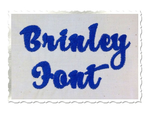 Brinley Machine Embroidery Font Alphabet
