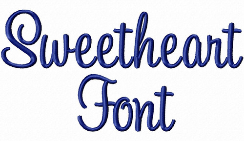 "1 1/2"" Inch Size ONLY Sweetheart Machine Embroidery Font"