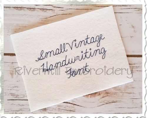 Small Vintage Handwriting Machine Embroidery Alphabet