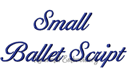 Small Ballet Script Machine Embroidery Font Alphabet