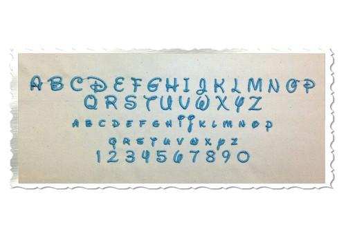 "Small Mini Disney Machine Embroidery Font Alphabet - 1/2"" & 3/4"""