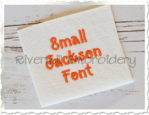 "Small Mini Jackson Machine Embroidery Font Alphabet - 1/2"" & 3/4"""
