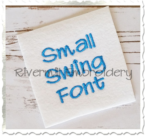 "Small Mini Swing Machine Embroidery Font Alphabet - 1/2"" & 3/4"""
