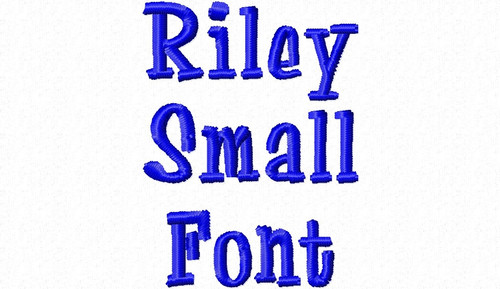 "Small Mini Riley Machine Embroidery Font Alphabet - 1/2"" & 3/4"""