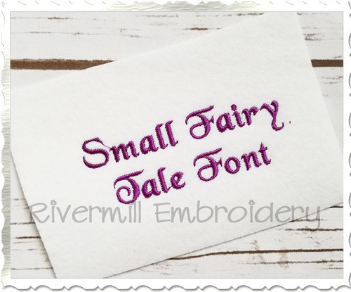 "Small Mini Fairy Tale Machine Embroidery Font Alphabet - 1/2"" & 3/4"""