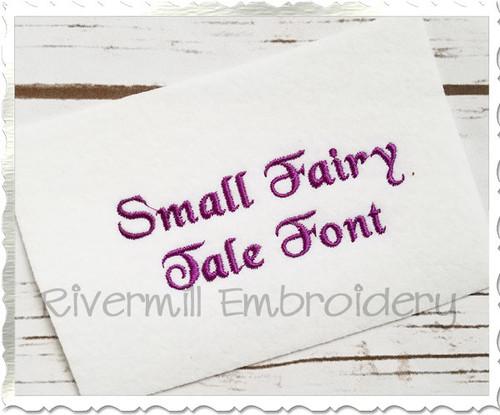 "Small Mini Fairy Tale Machine Embroidery Font Alphabet - 1/2"" & 3/4"""