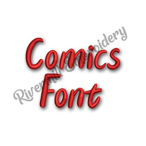 Comics Font Machine Embroidery Font Alphabet