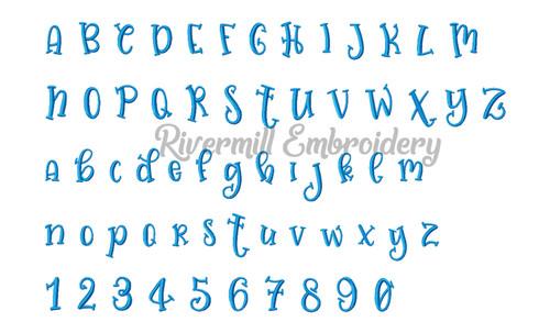 Judy Bug Font Machine Embroidery Alphabet