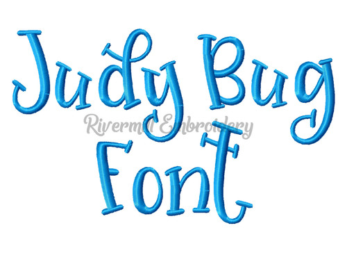 Judy Bug Font Machine Embroidery Alphabet
