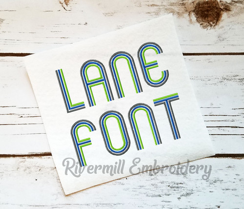 Lane Machine Embroidery Alphabet Font