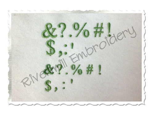 FREE Small Punctuation Set - Machine Embroidery Designs