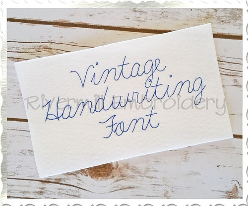 Vintage Handwriting Machine Embroidery Alphabet