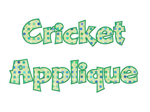 Cricket Applique Machine Embroidery Font Alphabet