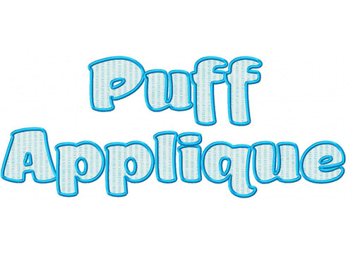 Puff Applique Machine Embroidery Alphabet Font