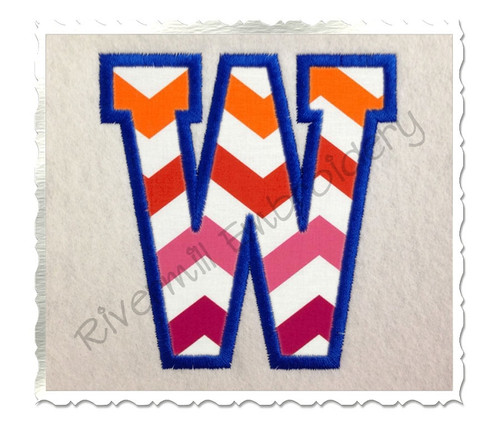 Varsity Collegiate Applique Embroidery Font